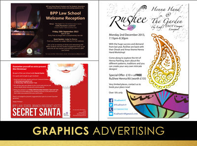 Design your advert; poster; flyer or leaflet, with unlimited revisions