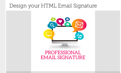 design the best email signature for you and your staff with your social media icons.