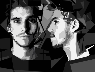 Turn your photos into professional and modern polygonal portraits