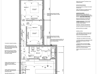 Building regulation drawings Structural Eng  (UK) - plans & sections including survey
