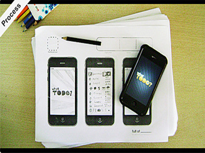 Design prototype iPhone / iPad / Android app