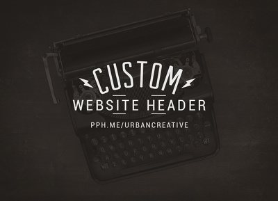Your new website or blog banner design.