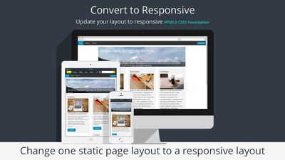 Convert one existing web page layout to a responsive layout