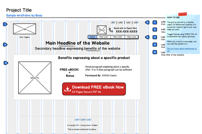 Design your conversion optimized wireframes