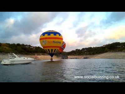 Embed your logo on to a hot air balloon - perfect promo video.