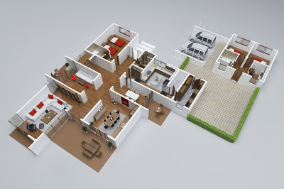 Render 3D floorplan