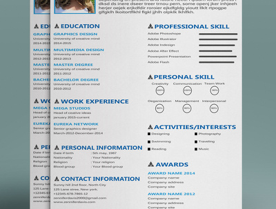 Design unique professional CV/Resume for you