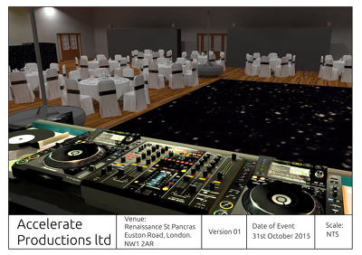 Design your Event thought Sketchup & Vray