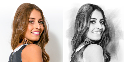 I can draw you ONE B&W HEADSHOT realistic PORTRAIT pencil style
