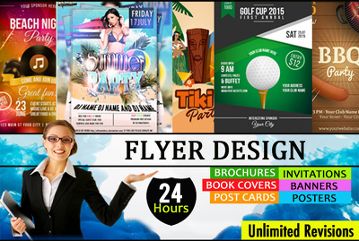 Design a professional flyer for your business or event