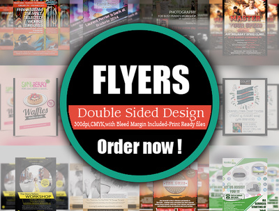 Design an creative double-sided flyer/poster/leaflet design within 24 hours