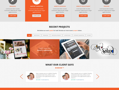 Design a website homepage / landing page & provide you the PSD File