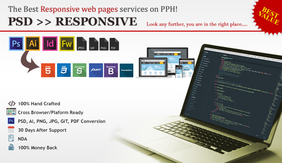 Convert 5 Pages to HTML5/CSS/Responsive (Mobile Friendly)