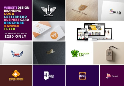 do full branding (website+logo+Flyre+letter head+ card )
