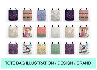Design a bespoke Tote bag illustration, pattern or image for your business