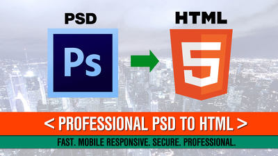 Convert PSD to HTML5 - all devices compatibility + SEO friendly