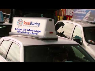 Get you a virtual taxi advertising for your company, blog or social media.