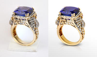 Retouch one jewellery image