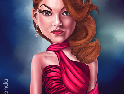 Make caricature, portrait and cartoon in colored