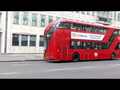 Advertise your company on an infamous London red bus using your logo and website.