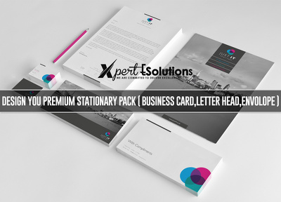 Design you Premium Stationary Pack (Business Card, Letter head,  envolope ,e.t.c)