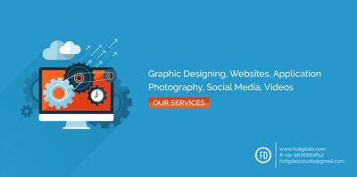 Create a flat banner/poster design
