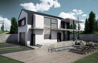 Model your house or floorplan into 3D by SketchUp