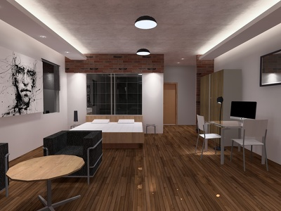 Create a Relux / DIALux lighting Design, showing both light distribution and level.