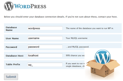 Install Wordpress fully (theme, configuration, plugins, etc)