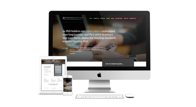 Design a beautiful landing page or one page web site