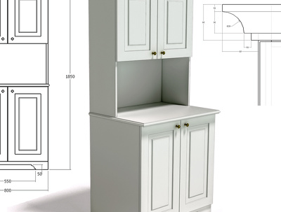 Design and dimensions for one small furniture item/cupboard