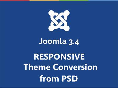 Convert PSD to Latest Joomla 3.4, 3.6 Responsive theme