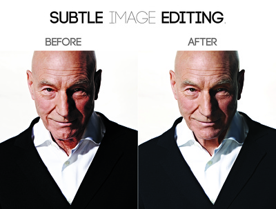 Do subtle editing on wrinkles, lines, spots etc