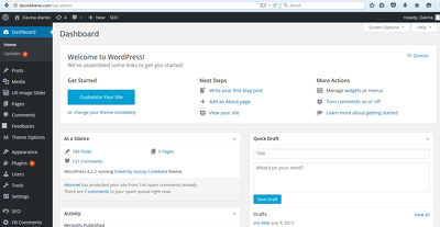 Manage your Wordpress eCommerce Store, Website and Blog