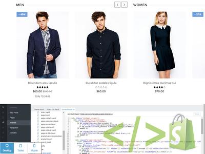 modify, setup or create shopify theme