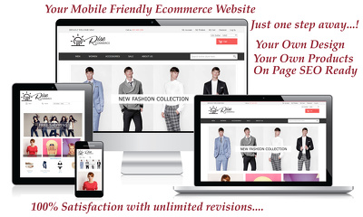 Design a bespoke Magento 1.x / Magento 2.x Ecommerce  store with On Page SEO