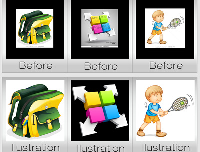 Convert/redraw/trace your low res. image into vector in 24 hours