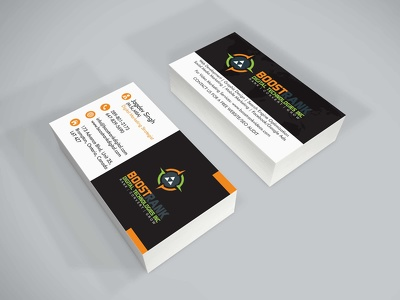 design professional, clean and sleek business card design
