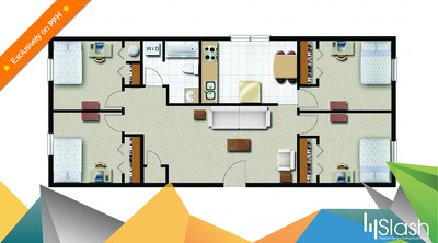 Create a professional 2D floor plan from your sketches