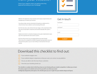 Design your website Landing Page in PSD format