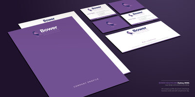 Design a complete corporate stationery set