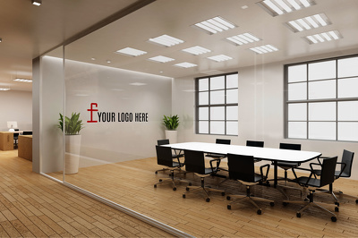 Do lively virtual office set with your logo for you
