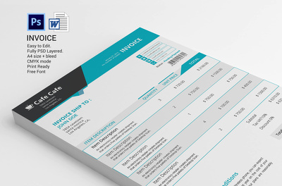 Design business Invoice template