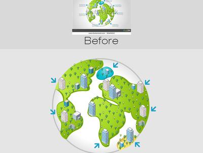 Redraw your logo/artwork as a hi res vector