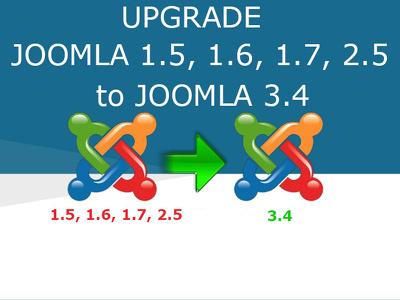 Upgrade Joomla 1.5,1.6,1.7 & 2.5 to Responsive Joomla 3.4, 3.6 versions