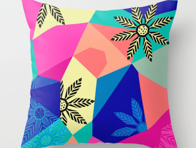 Create a geometric pattern or a print or a doodle or an artwork