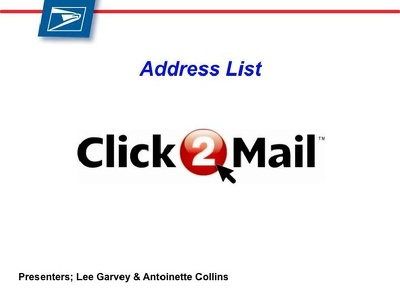Do Click2Mail Mail Merge