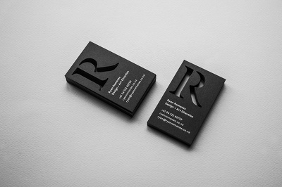 Design professional looking business cards