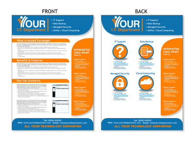 Design your awesome brochure/ flyer/poster with unlimited revisions