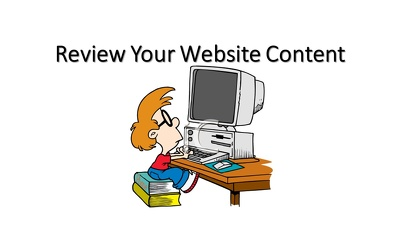 Carry out a website content review